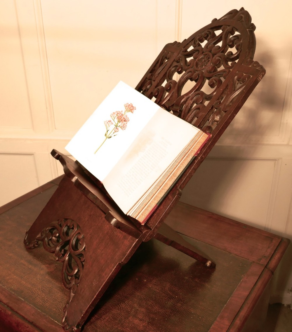 very large french arts and crafts book rest ecclesiastical reading stand lutrin