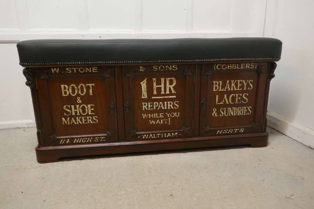 window seat boot cupboard shop display bench storage